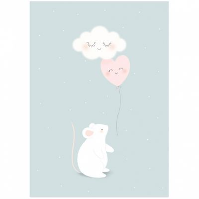 Affiche A3 Petite souris  par Zü