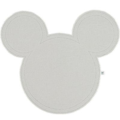 Set de table Mickey en lin gris clair et argenté Cotton&Sweets