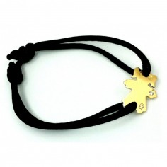 Bracelet cordon petite fille ou petit garçon bracelet diamant 17 mm (or jaune 750°)