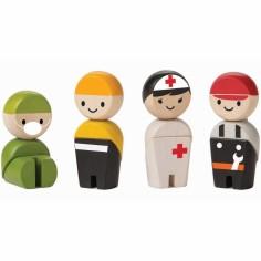 Personnages Les secouristes (4 pièces)
