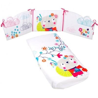 Set édredon et tour de lit fille Kimono (pour lits 60 x 120 cm)   par Tuc Tuc