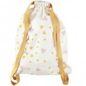 Sac à ficelles Florencia Confettis rose et jaune miel - Nobodinoz