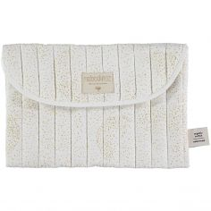 Pochette de change Bagatelle coton bio Gold bubble White