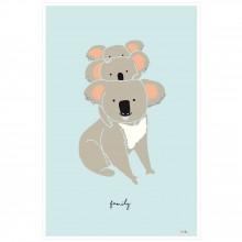 Affiche Koala family (60 x 40 cm)  par Mimi'lou