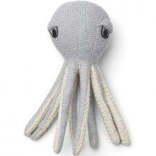 Hochet peluche pieuvre Ole grise (22 cm)  par Liewood