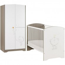 pack duo martin lit b b et armoire par galipette. Black Bedroom Furniture Sets. Home Design Ideas