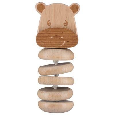 Hochet en bois gling gling Hippopotame Safari  par Bébé Confort