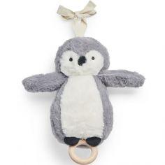 Peluche musicale pingouin storm grey gris (20 cm)