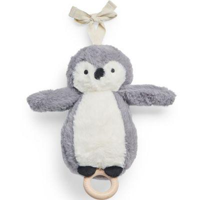 Peluche musicale pingouin storm grey gris (20 cm)  par Jollein