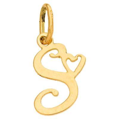 Pendentif initiale S (or jaune 750°)  par Berceau magique bijoux