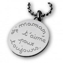 Grande Médaille Maman Je Taime Pour Toujours Argent 925