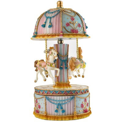 carrousel musical 3 chevaux orfvrerie de crvigny. Black Bedroom Furniture Sets. Home Design Ideas