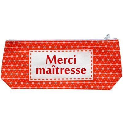 Trousse vintage rouge (personnalisable) Les Griottes