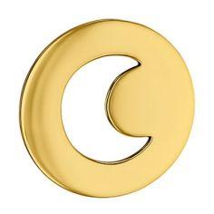 Pendentif rond Croissant de Lune ajouré (or jaune 750°)