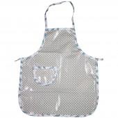Tablier petit cuistot Plumes étoilé gris  - Les Petits Vintage