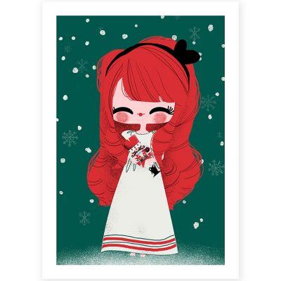 Affiche A4 Noël Marie et le Casse-Noisette  par Kanzilue
