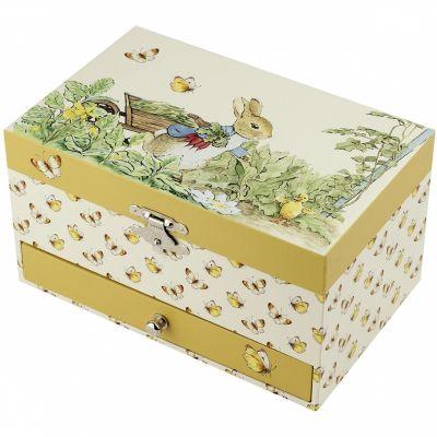 Boîte à bijoux musicale Pierre Lapin jaune  par Trousselier