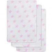 Lot de 3 gants de toilette hydrophiles  Little star étoile rose - Jollein