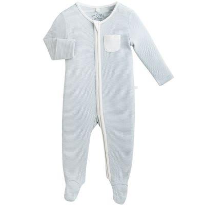 Pyjama chaud Zip Up bleu clair (3-6 mois)