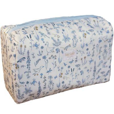 Trousse de toilette Liberty Alice bleu  par Luciole et Cie