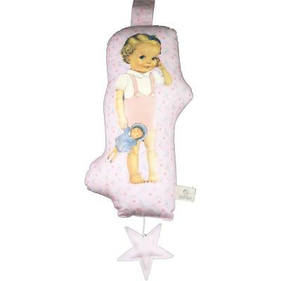 Coussin musical Blondinette à la poupée Starfly (28 cm) Les Petits Vintage