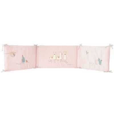 Tour de lit rose Moris & Sacha (pour lits 60 x 120 et 70 x 140 cm)  par Noukie's