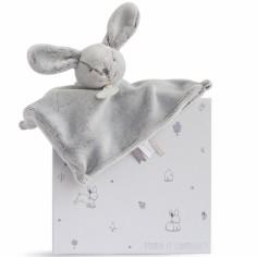 Doudou plat lapin gris (25 cm)