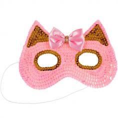 Masque de chat rose