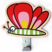 Patère papillon rouge - Série-Golo