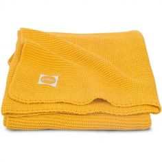 Couverture Basic knit jaune (100 x 150 cm)