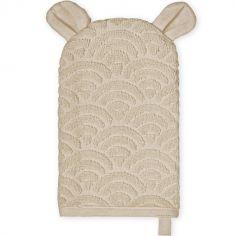 Gant de toilette ours beige