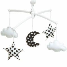 Mobile musical Lune noir et blanc