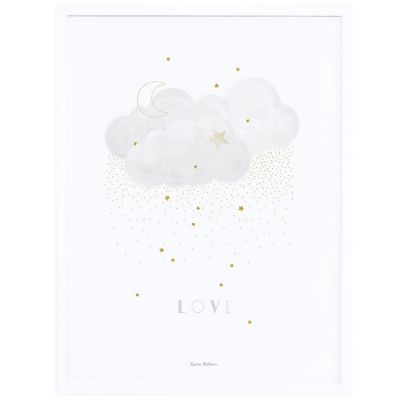 Affiche encadrée Stardust Sweet Love gris (30 x 40 cm)  par Lilipinso