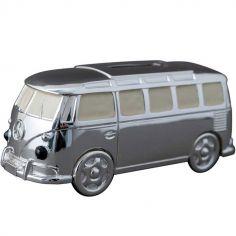 Tirelire Mini Van personnalisable (métal argenté)
