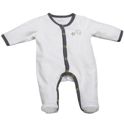 Pyjama chaud Babyfan blanc et gris (3 mois)  par Sauthon