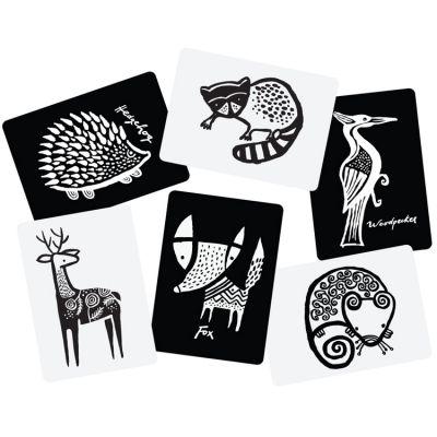 Cartes imagier pour bébé Forêt  par Wee Gallery