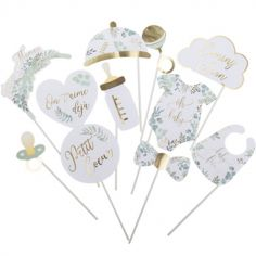 Accessoires photobooth pour baby shower Oh Baby (11 accessoires)