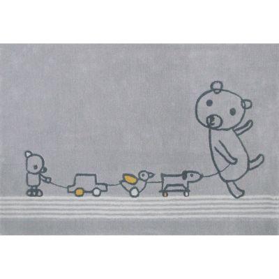 Tapis Paintclub gris (135 x 190 cm)  par Art for Kids