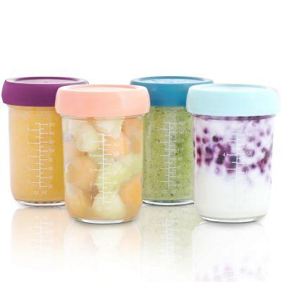 Lot de 4 pots de conservation en verre Babybols (160 ml)