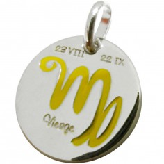 Médaille signe Vierge 14 mm (argent 925°)