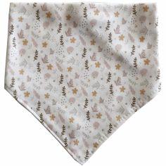 Bavoir bandana en coton bio Hérisson