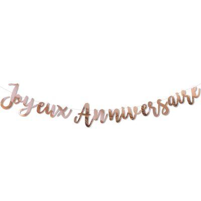 Guirlande Rose gold Joyeux anniversaire  par Arty Fêtes Factory