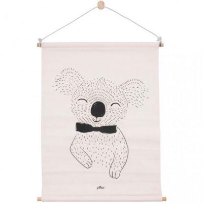 Affiche kakemono en tissu Koala pêche (42 x 60 cm)  par Jollein
