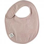 Bavoir à velcro Candy White bubble Misty pink (34 cm) - Nobodinoz