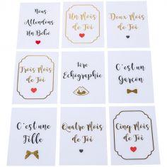 Cartes étapes de grossesse Oh les doux caprices (18 cartes)
