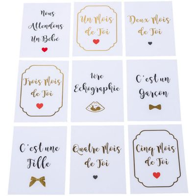 Cartes étapes de grossesse Oh les doux caprices (18 cartes)  par Arty Fêtes Factory