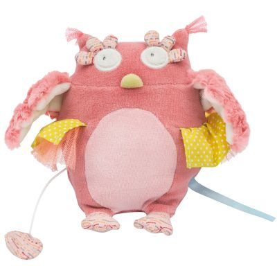 Peluche musicale chouette Mademoiselle et Ribambelle (21 cm) Moulin Roty