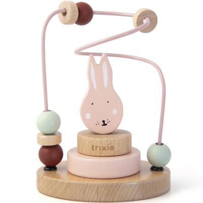 Boulier en bois avec tour à empiler lapin Mrs. Rabbit  par Trixie