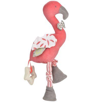 Peluche d'activités Flamant rose (30 cm) Kikadu