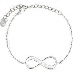 Bracelet Infinity sur chaîne personnalisable (argent 925°)